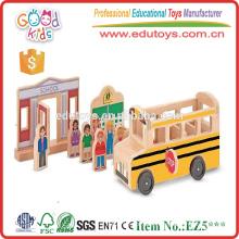 2015 Popular y de alta calidad de bricolaje modelo mini juguete de madera de coches para niños