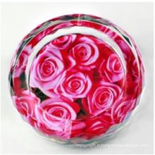 Nouveau cendrier de fleur en cristal de mode pour la décoration à la maison (JD-CA-612)