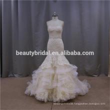 Exquisite handwork new ball gown sweetheart wedding gown