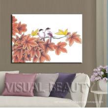 Affiches modernes d'art de toile d'arbres roses Dropship
