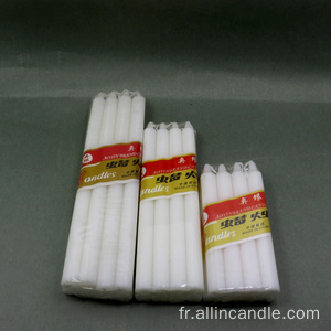 Bougie cire blanche 25g Angola Bougies blanches 20cm