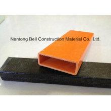 Formas de pultrusión FRP, tubo rectangular de fibra de vidrio Gfrp, tubo de fibra de vidrio.