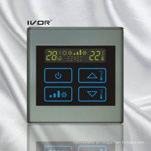 Interruptor táctil del termóstato del acondicionador de aire de 4 tubos en marco plástico (SK-AC2300B-4P)