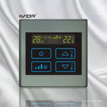 Interrupteur tactile Thermostat à 4 pièces avec cadre en plastique (SK-AC2300B-4P-N)