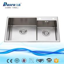 Dissipador de cozinha caloroso feito sob encomenda de aço inoxidável da isolação do OEM com a torneira automática do torneira do sensor