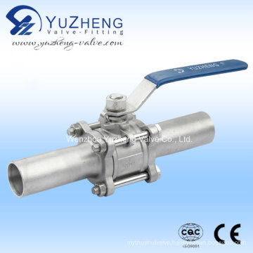 3PC Lengthen Ball Valve with Pad