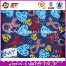 Мода ткани новый стиль поставщик 100% печатных закрученная район ткани