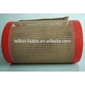 PTFE teflon revestido de fibra de vidro tecido malha correia transportadora, borda reforçada
