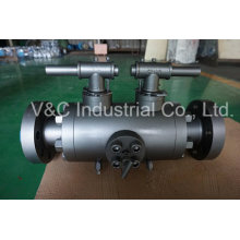 API6d Flanged Dbb Ball Valve