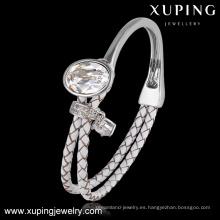 51597-Cristales de Swarovski, brazaletes de cristal blanco de nuevo estilo