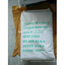 Pharmaceutique Citrate de magnésium, additifs alimentaires en poudre Mg3 (C6H5O7) 2