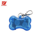 Plastic Bone Shaped Colorful LED Blinker Flashing Pet ID Tags