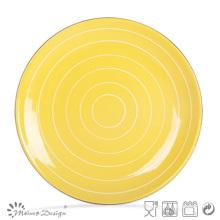 "Plato de cena de gres de cerámica de diferentes colores de 10,5 """