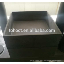 Very hot sale Refractory Rbsic sic silicon carbide ceramic crucible Square shape Rectangular shape