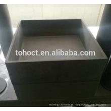 Venda muito quente refratária rbsic sic carboneto de silício cerâmico cadinho forma quadrada forma retangular