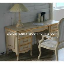 Maison de Style Français Table en bois un bureau (2401)