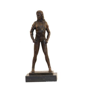 Музыкальный Декор Латунь Статуя Поп-Звезда Майкл Бронзовая Скульптура Т-854