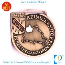 Personalizada Cobre Stamping Berlim Medalha Feito na China para Lembrança