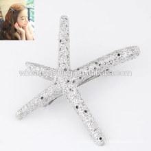 Alibaba express Yiwu rétro alliage clip de l'étoile de mer dans l'extension des cheveux