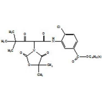 4-chloro-3-{[2-(5,5-dimethyl-2,4-dioxo-3-oxazolidinyl)-4,4-dimethyl-1,3-dioxopentyl]aminol}-benzoic acid hexadecyCAS 168689-49-4