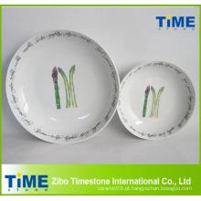 Novo design individual porcelana macarrão conjunto tigela