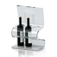Pantallas transparentes de acrílico para almacenar vino