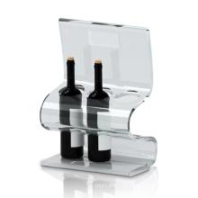 Suportes de exibição de acrílico transparentes para armazenamento de vinhos