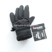 Wholesale cheap price black ski gloves with thinsulate lining
