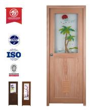 PVC de plástico de calidad MDF madera persiana puerta