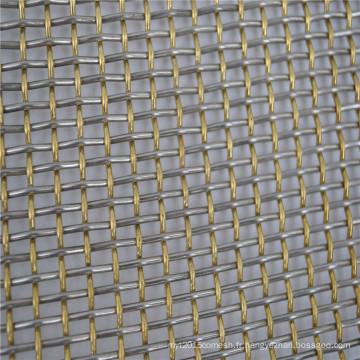 Filet de filtre de l'acier inoxydable 201,304,316,316L pour l'exploitation minière