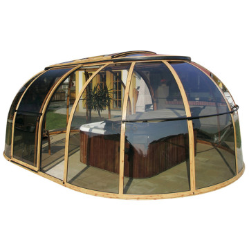 Round Cover Screen Swimming Pool Dome Enclosure