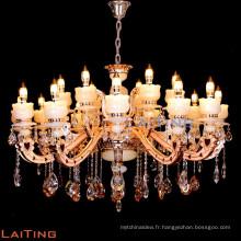 2016 moderne 18 bras grand lustre en cristal de bougie 88647