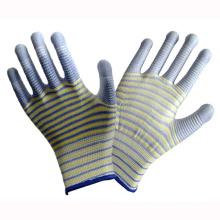 Stripe PU beschichteter Arbeitsschutzhandschuh