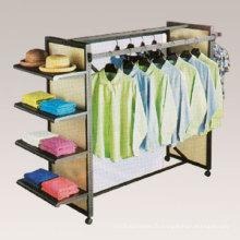 Supermarché panier exposition affichage magasin de meubles de chambre à coucher affichage linge cintre (GDS-036)