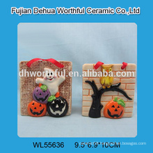 Ceramic halloween hanging decorations with ghost / pumpkin / owl design