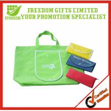 Sacs à provisions pliables de logo adapté aux besoins du client promotionnels