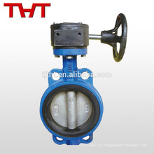dn150 gearbox wafer butterfly valve