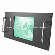 10.4-inch Industrial LCD PC Monitor, 5U Rack Mount, USB/RS232 Touchscreen, VGA IN, 12V DC, OEM/DOM