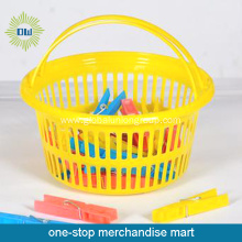 Laundry Basket+24Pcs PP Material Clothes-Peg