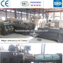 Price of CE plastic extrusion machine for PP/PA/PBT/AS/PC/POM/PPS/PET+Glass fiber/ carbon fiber