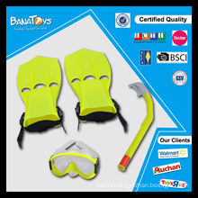 Cheap colorful kids diving suit with snorkel diving equipment