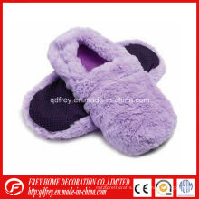 Fluffy Lavender Wheat Bag Heated Slipper Hot Sox