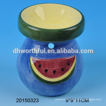 New arrivals home decor ceramic aromatherapy oil burner with watermelon painting