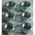 Boulons et écrous hexagonaux en acier inoxydable / acier au carbone Écrous et boulons hexagonaux galvanisés à chaud galvanisés (DIN933 et DIN934)