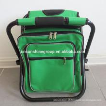 Mochila de viagem ao ar livre, cadeira com saco de dobramento