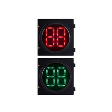 2 Digital LED Traffic Light Countdown Timer