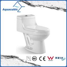 One Piece Dual Flush White Ceramic Toilet (ACT7299)