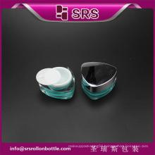 triangle shape J081 cosmetic acrylic jar,high quality nail gel jar