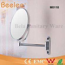 Espejo de montaje en pared de espejo de lupa de maquillaje de lado doble redondo de 8 pulgadas
