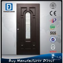 Porta exterior barata de Fangda, porta de vidro do aço de 7 painéis